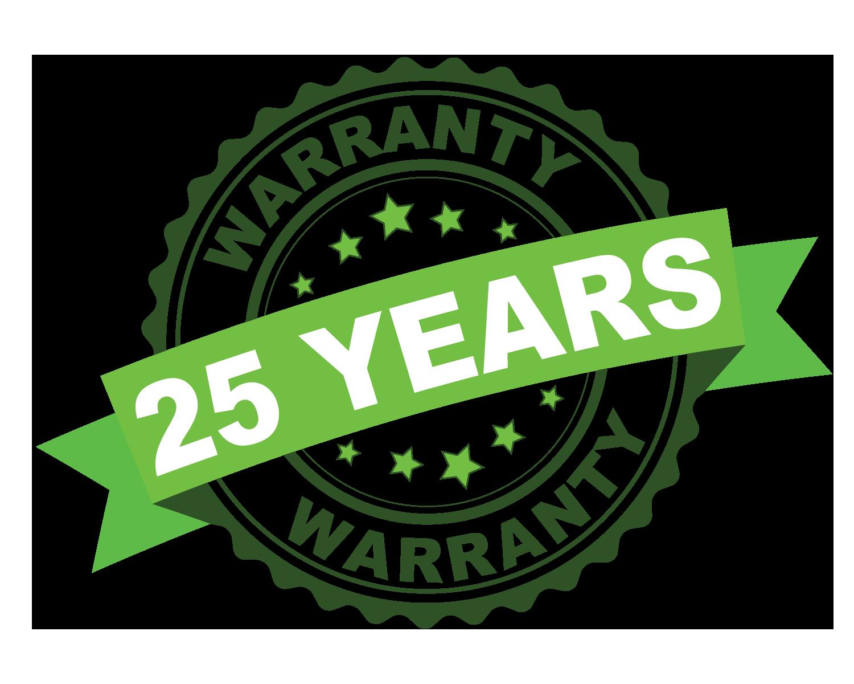 25 year warranty rubber