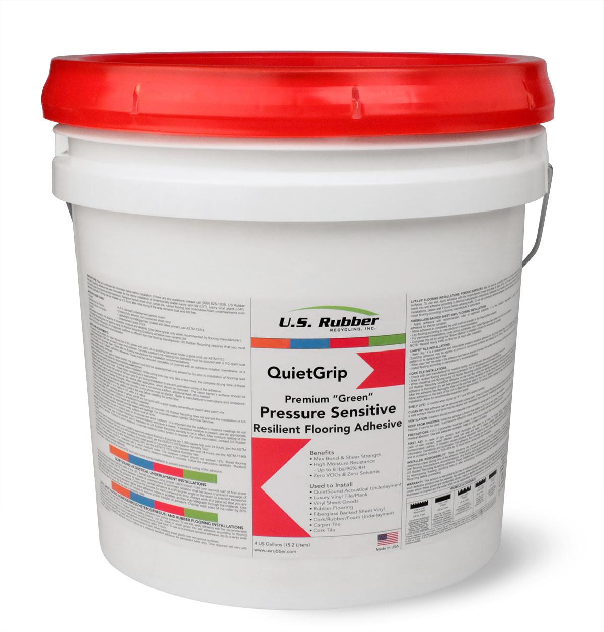 quietgrip rubber flooring adhesives