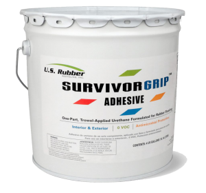 Survivor floor adhesives