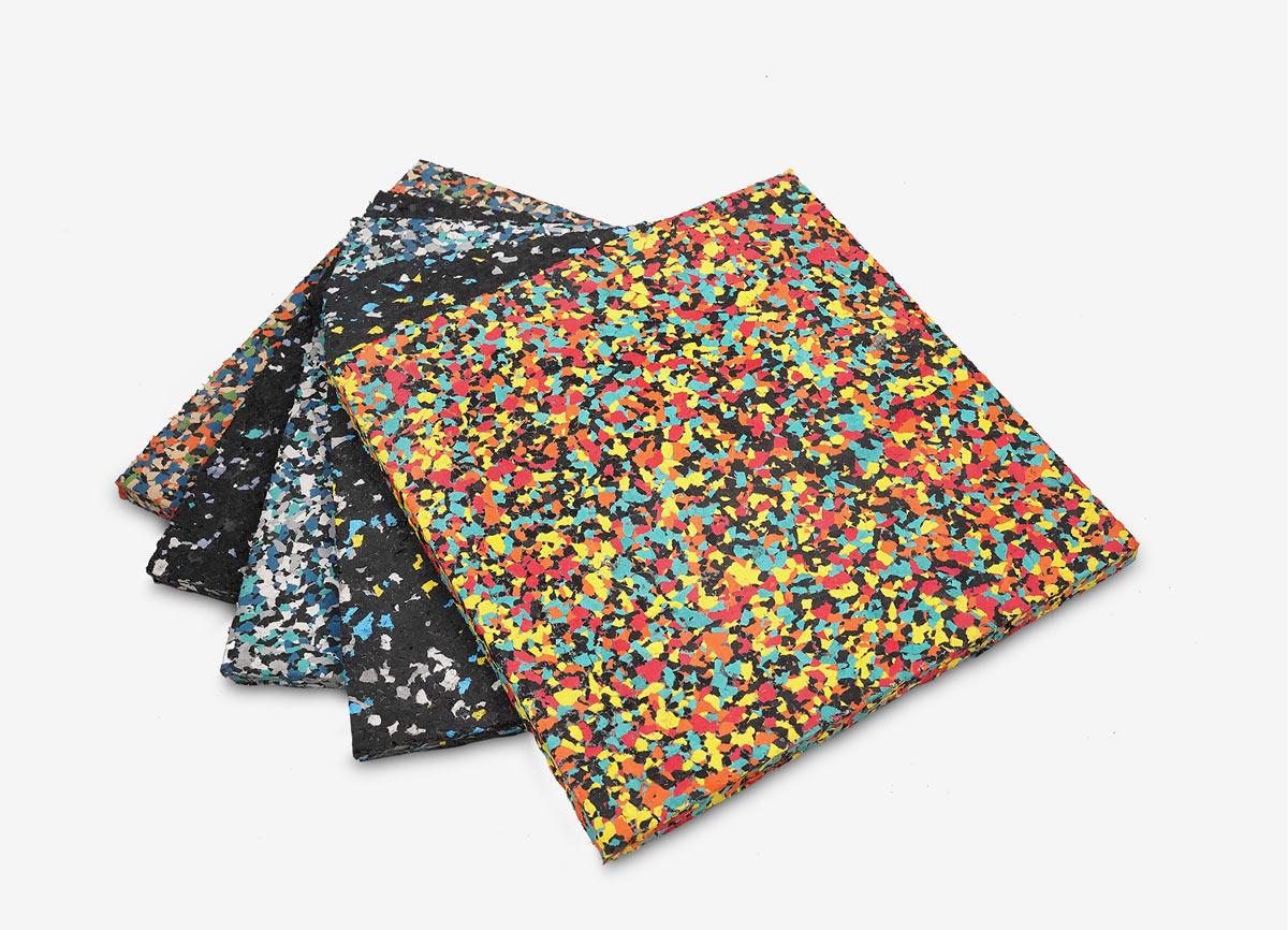 Color Builder rubber flooring tiles